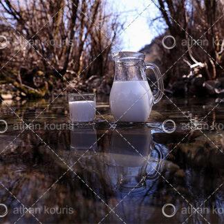 photo ποτήρι κανάτα Γάλα P-10012